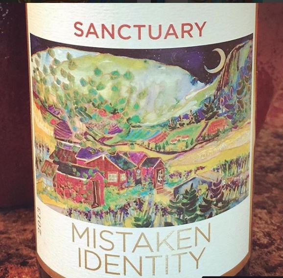 ソルトスプリング島産のワインのラベルにもなっています